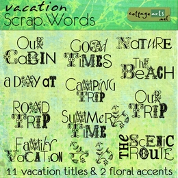 Scrap.Words - Vacation