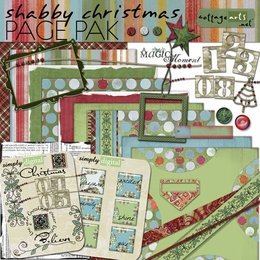 Shabby Christmas Page Pak w/Numerals