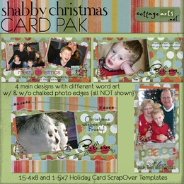 Shabby Christmas Photo Cards