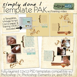 Simply Done 1 Templates & Training Video(PS,PSE,PSP)