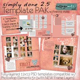 Simply Done 2.5 Templates & Training Video (PSE 5, 6, 7)