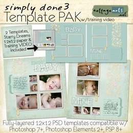 Simply Done 3 Templates & Training Video(PS,PSE,PSP)