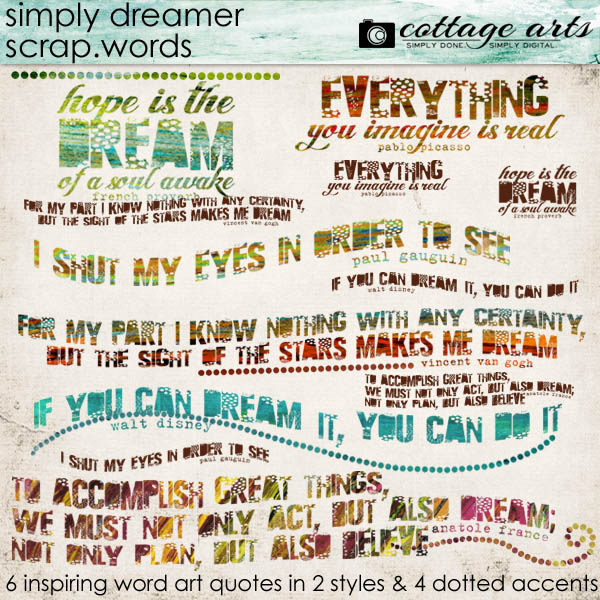Simply Dreamer Scrap Words