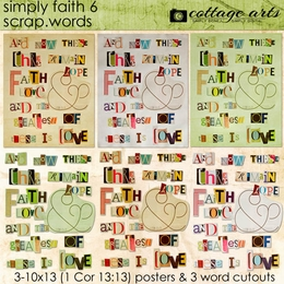 Simply Faith 6 Scrap.Words
