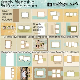 Simply Friendship 8x10 Scrap.Album
