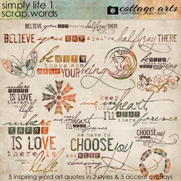 Simply Life 1 Scrap.Words