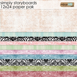 Simply Storyboards - 12x24 Paper Pak
