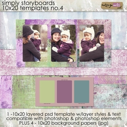 Simply Storyboards 4 - 10x20 Templates