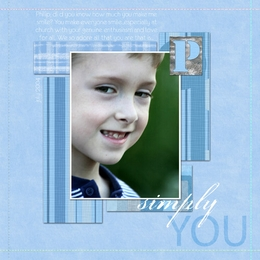 Simply You ScrapOver Template {Blue}