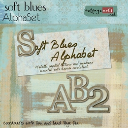 Soft Blues AlphaSet