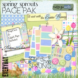 Spring Sprouts Page Pak w/ScrapOver