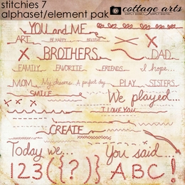Stitchies 7 Element Pak w/AlphaSet