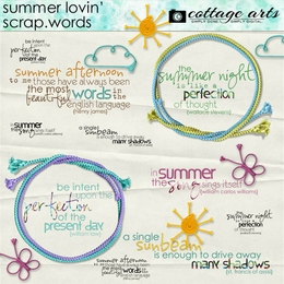 Summer Lovin' Scrap.Words