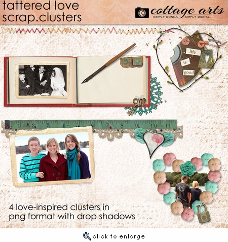 Tattered Love Scrap.Clusters