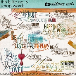 This is Life 6 Scrap.Words