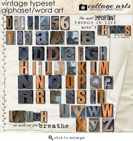 Vintage Typeset AlphaSet / WordArt