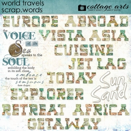 World Travels Scrap.Words