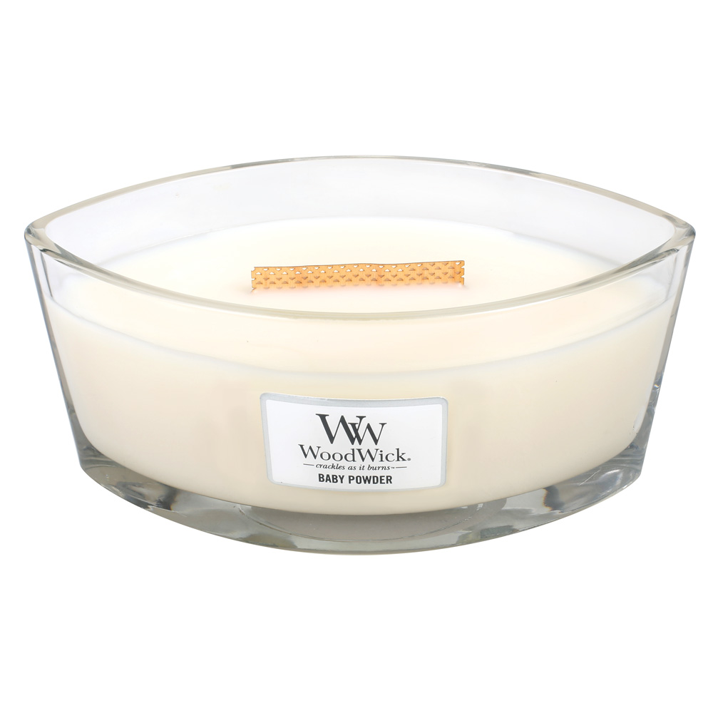Baby Powder Hearthwick Flame Large Scented Candle By Woodwick