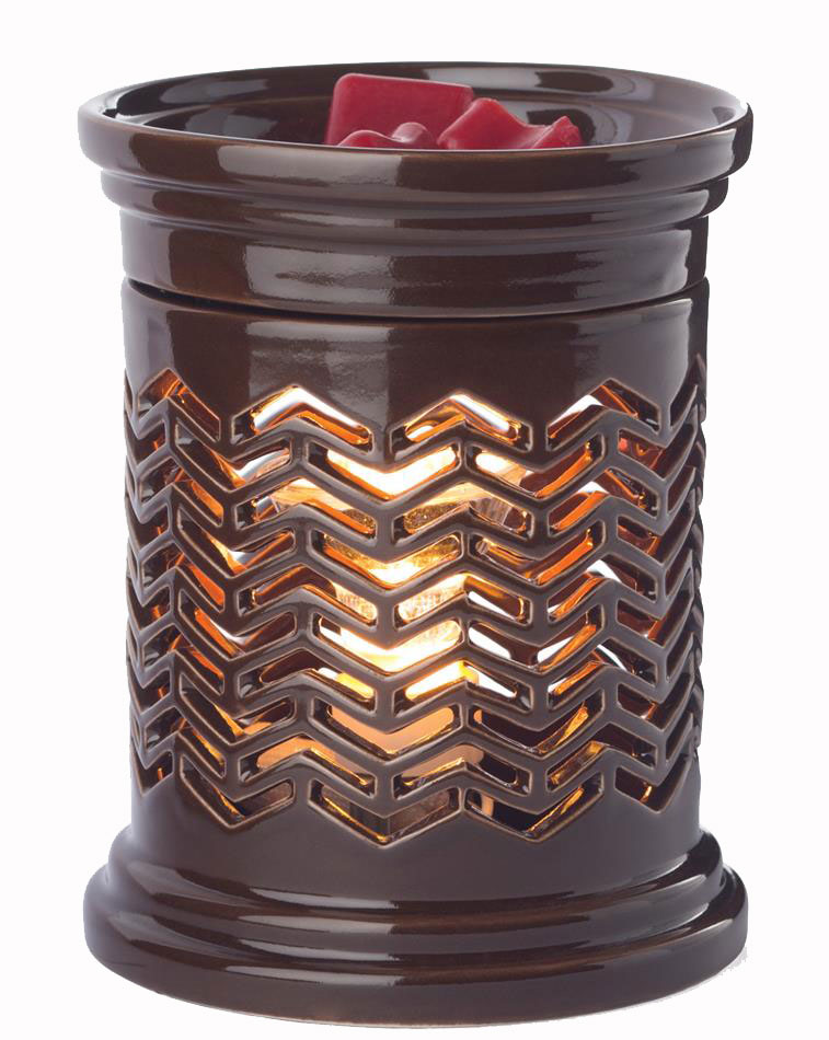 Electric Scent Warmers ~ Chevron illumination fragrance warmer by candle warmers