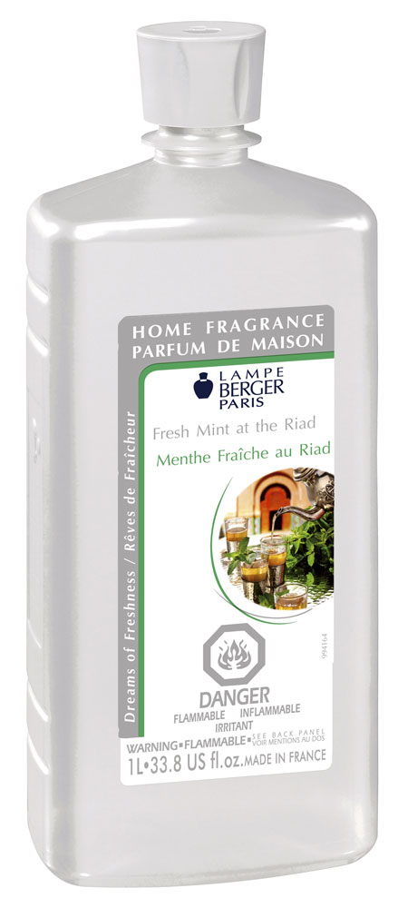 fresh mint at the riad lampe berger liter parfum de maison lamp perfume. Black Bedroom Furniture Sets. Home Design Ideas