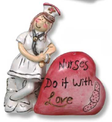Nurses Do It With Love S & P Set - Clayworks Blue Sky 2009