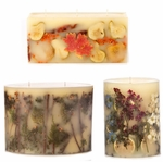 Rosy Rings Botanical Pillar Candles Signature Collection
