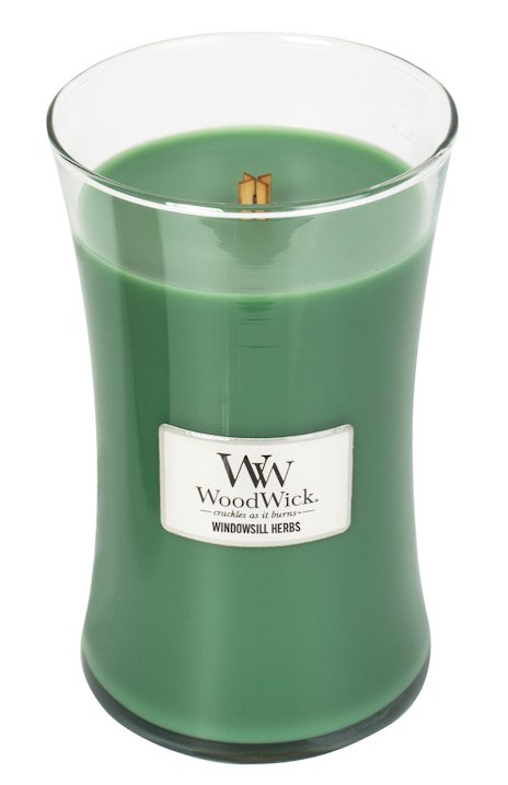 Windowsill Herbs Woodwick 22oz Scented Jar Candle