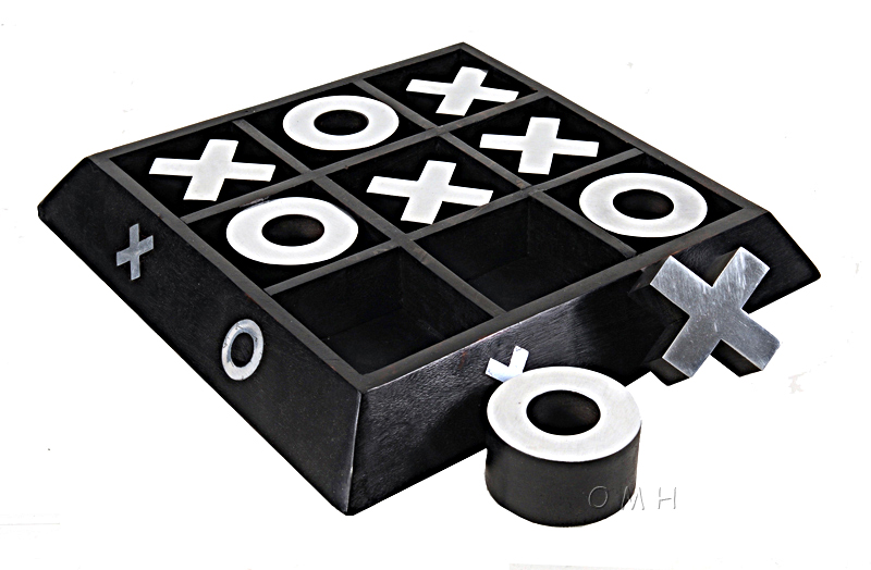 Wood Aluminum X O Game By Old Modern Handicrafts