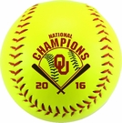 2016 Oklahoma Sooners National Champs Official Size Softball