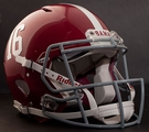 Alabama Crimson Tide #16 Riddell Authentic Speed NFL Full Size On Field Football Helmet