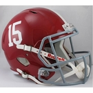Alabama Crimson Tide #15 Riddell NCAA Full Size Deluxe Replica Speed Football Helmet