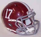 Alabama Crimson Tide #17 Speed Riddell Mini Football Helmet