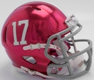 Alabama Crimson Tide - Chrome Alternate Speed Riddell Mini Football Helmet