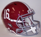 Alabama Crimson Tide #16 Riddell NCAA Full Size Deluxe Replica Speed Football Helmet