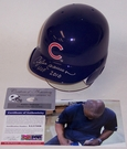 Andre Dawson - Riddell - Autographed Batting Mini Helmet - Chicago Cubs - PSA/DNA