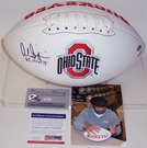 Archie Griffin - Autographed Ohio State Buckeyes Full Size Logo Football - PSA/DNA