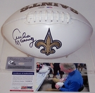 Archie Manning - Autographed New Orleans Saints Full Size Logo Football - PSA/DNA