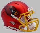 Arizona Cardinals - Blaze Alternate Speed Riddell Mini Football Helmet