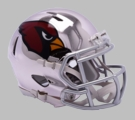 Arizona Cardinals - Chrome Alternate Speed Riddell Full Size Deluxe Replica Football Helmet