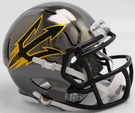 Arizona State Sun Devils - Chrome Alternate Speed Riddell Mini Football Helmet