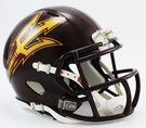 Arizona State Sun Devils Maroon Speed Revolution Riddell Mini Football Helmet