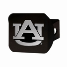 "Auburn Tigers NCAA 2"" Black Chrome Metal Tow Hitch Receiver Cover 3D"