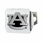 "Auburn Tigers NCAA 2"" Chrome Metal Tow Hitch Receiver Cover 3D"