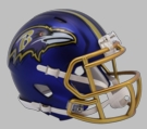 Baltimore Ravens - Blaze Alternate Speed Riddell Mini Football Helmet