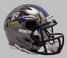 Baltimore Ravens - Chrome Alternate Speed Riddell Full Size Deluxe Replica Football Helmet