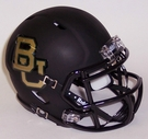 Baylor Bears Black Matte Finish Speed Revolution Riddell Mini Football Helmet