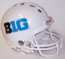Big Ten 10 Logo VSR4 Riddell Mini Football Helmet