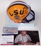 Billy Cannon - Riddell - Autographed Mini Helmet - LSU Tigers - PSA/DNA