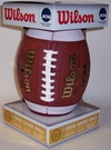 Bo Jackson - Autographed Official Wilson NCAA Leather Game Full Size Football