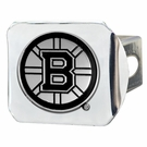 "Boston Bruins NCAA 2"" Chrome Metal Tow Hitch Receiver Cover 3D"